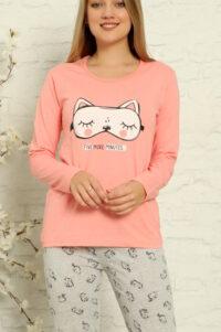 LAP 1014 róż hurtownia piżam tanie piżamy damskie hurt producent piżam bawełnianych wólka hurtownia bielizny