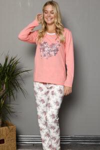 LAP 1018 morela hurtownia piżam damskich tanie piżamy damskie hurt producent piżam bawełnianych wólka hurtownia bielizny