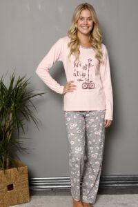 LAP 1019 morela hurtownia piżam damskich tanie piżamy damskie hurt producent piżam bawełnianych wólka hurtownia bielizny