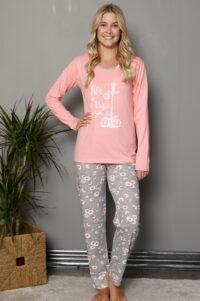 LAP 1019 roz hurtownia piżam damskich tanie piżamy damskie hurt producent piżam bawełnianych wólka hurtownia bielizny