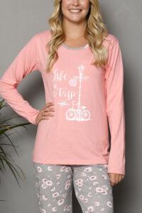 LAP 1019 roz hurtownia piżam tanie piżamy damskie hurt producent piżam bawełnianych wólka hurtownia bielizny