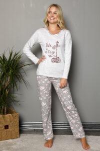 LAP 1019 szary hurtownia piżam damskich tanie piżamy damskie hurt producent piżam bawełnianych wólka hurtownia bielizny
