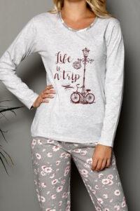 LAP 1019 szary hurtownia piżam tanie piżamy damskie hurt producent piżam bawełnianych wólka hurtownia bielizny