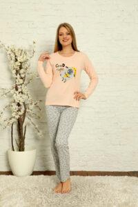 CHR 1013 morela hurtownia piżam damskich tanie piżamy damskie hurt producent piżam bawełnianych wólka hurtownia bielizny