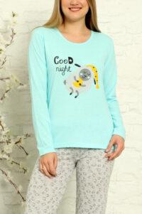 CHR 1013 turkus hurtownia piżam tanie piżamy damskie hurt producent piżam bawełnianych wólka hurtownia bielizny