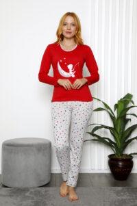 CHR 1025 czerwony hurtownia pizam damskich tanie pizamy damskie hurt producent pizam bawełnianych wolka hurtownia bielizny