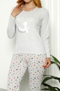 CHR 1025 szary hurtownia piżam damskich tanie piżamy damskie hurt producent piżam bawełnianych wólka hurtownia bielizny
