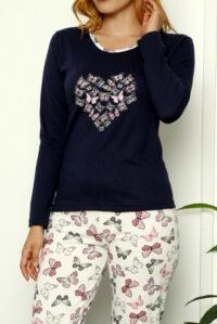 CHR 1026 granat hurtownia piżam damskich tanie piżamy damskie hurt producent piżam bawełnianych wólka hurtownia bielizny