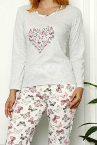 CHR 1026 szary hurtownia piżam damskich tanie piżamy damskie hurt producent piżam bawełnianych wólka hurtownia bielizny