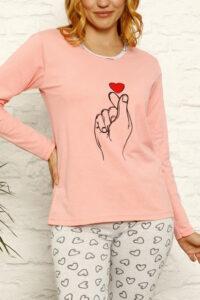 CHR 1030 morela hurtownia piżam damskich tanie piżamy damskie hurt producent piżam bawełnianych wólka hurtownia bielizny