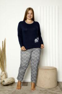 CHR 2008 granat hurtownia piżam damskich plus size tanie piżamy damskie plus size hurt producent piżam bawełnianych wólka hurtownia bielizny