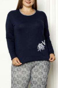 CHR 2008 granat hurtownia piżam damskich tanie piżamy damskie plus size hurt producent piżam bawełnianych wólka hurtownia bielizny
