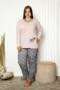 CHR 2008 róz hurtownia piżam damskich plus size tanie piżamy damskie plus size hurt producent piżam bawełnianych wólka hurtownia bielizny