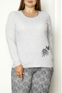 CHR 2008 szary hurtownia piżam damskich tanie piżamy damskie plus size hurt producent piżam bawełnianych wólka hurtownia bielizny