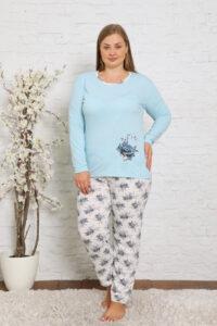 CHR 2010 błękit hurtownia piżam damskich plus size tanie piżamy damskie plus size hurt producent piżam bawełnianych wólka hurtownia bielizny