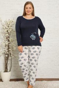 CHR 2010 granat hurtownia piżam damskich plus size tanie piżamy damskie plus size hurt producent piżam bawełnianych wólka hurtownia bielizny