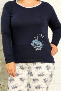 CHR 2010 granat hurtownia piżam damskich tanie piżamy damskie plus size hurt producent piżam bawełnianych wólka hurtownia bielizny