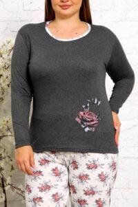 CHR 2010 szary hurtownia piżam damskich tanie piżamy damskie plus size hurt producent piżam bawełnianych wólka hurtownia bielizny