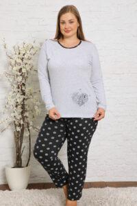 CHR 2011 szary hurtownia piżam damskich plus size tanie piżamy damskie plus size hurt producent piżam bawełnianych wólka hurtownia bielizny