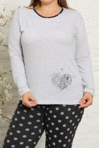 CHR 2011 szary hurtownia piżam damskich tanie piżamy damskie plus size hurt producent piżam bawełnianych wólka hurtownia bielizny