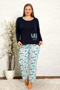 CHR 2012 granat hurtownia piżam damskich plus size tanie piżamy damskie plus size hurt producent piżam bawełnianych wólka hurtownia bielizny