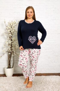 CHR 2013 granat hurtownia piżam damskich plus size tanie piżamy damskie plus size hurt producent piżam bawełnianych wólka hurtownia bielizny