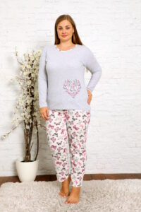 CHR 2013 szary hurtownia piżam damskich plus size tanie piżamy damskie plus size hurt producent piżam bawełnianych wólka hurtownia bielizny