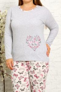 CHR 2013 szary hurtownia piżam damskich tanie piżamy damskie plus size hurt producent piżam bawełnianych wólka hurtownia bielizny