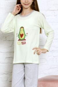 CHR 10010 zielony wolka hurtownia pizam dzieciece pizamy pizama hurt duman producent piżam dziecięcych