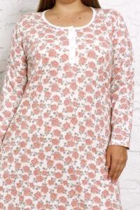 CHR 4001 róź tanie koszule nocne hurtownia bielizny wólka producent koszul nocnych PLUS SIZE hurt duman