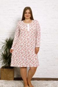 CHR 4001 róż tanie koszule nocne hurtownia bielizny wólka producent koszul nocnych koszule nocne PLUS SIZE hurt duman