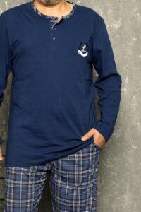 LAP 19003 niebieski hurtownia piżam męskich wolka duman pizamy meskie duże rozmiary hurtownia